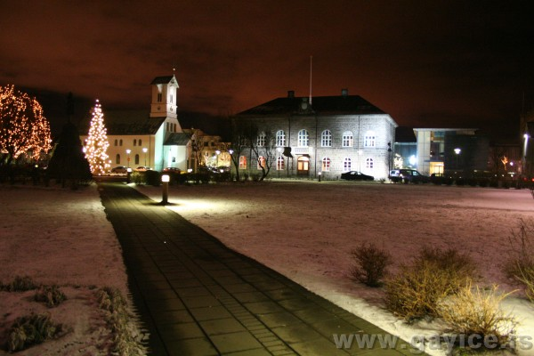 Reykjavik late night during Christmas 2005