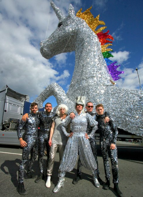 Pictures from Reykjavik Pride Parade, August 6th, 2016.
